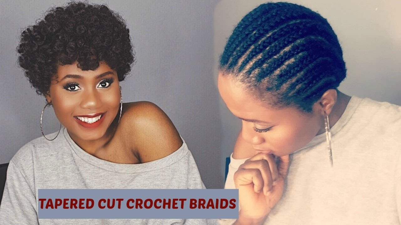 Easy Natural Looking Tapered Cut Crochet Braids Using Curlkalon Hair Collection Youtube