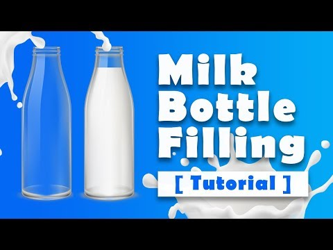 Filling Bottle With Milk - Html CSS And JQuery