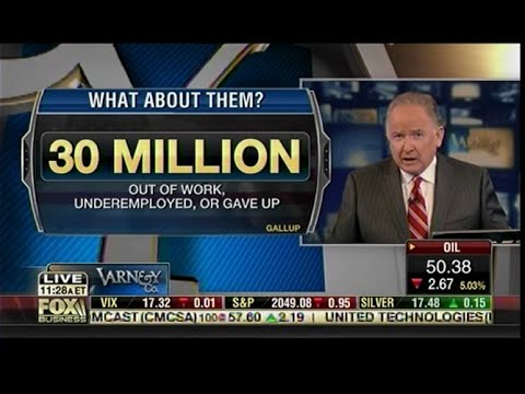 "Gallup: 5.6% Jobless ""Lie"" - The Realty Of Unemployment - Stuart Varney"