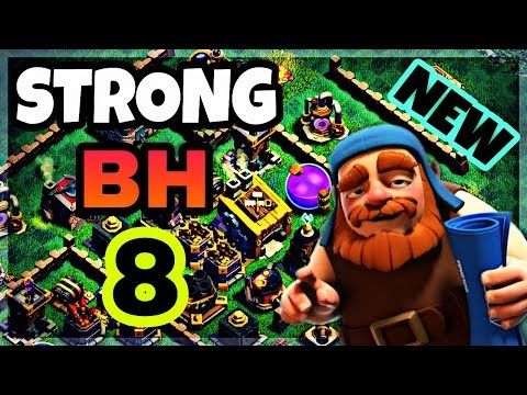 STRONG BUILDER BASE 8 LAYOUT WITH PROOF | BEST BH8 BASE IN COC | CLASH OF CLANS