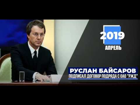 Руслан Байсаров подписал договор с РЖД.