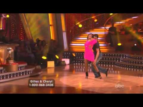 Gilles Marini and Cheryl Burke free style dance