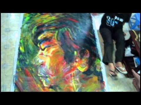 Họa sĩ Trần Đạt vẽ abstract