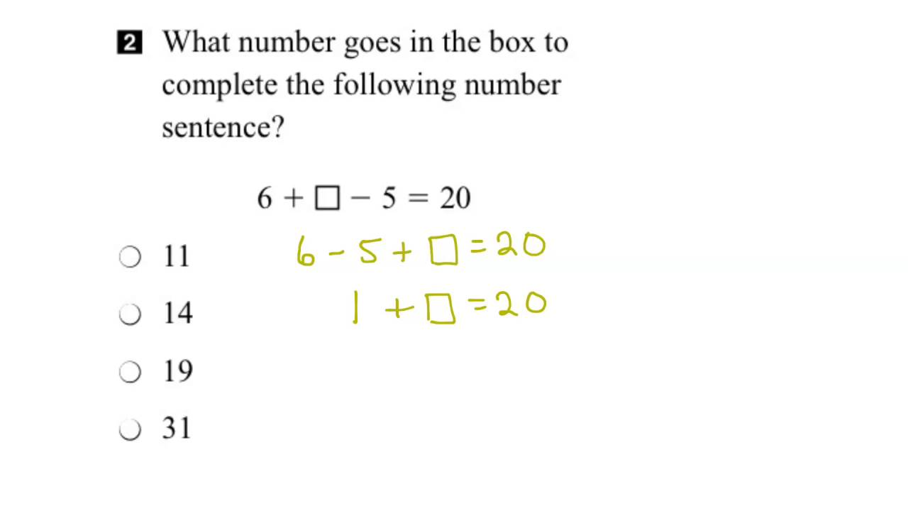 EQAO Grade 3 Math 2015 Question 2 Solution - YouTube