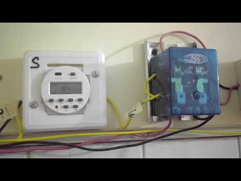 Solar power and Utility Automatic change over switch with timer. Part 2.