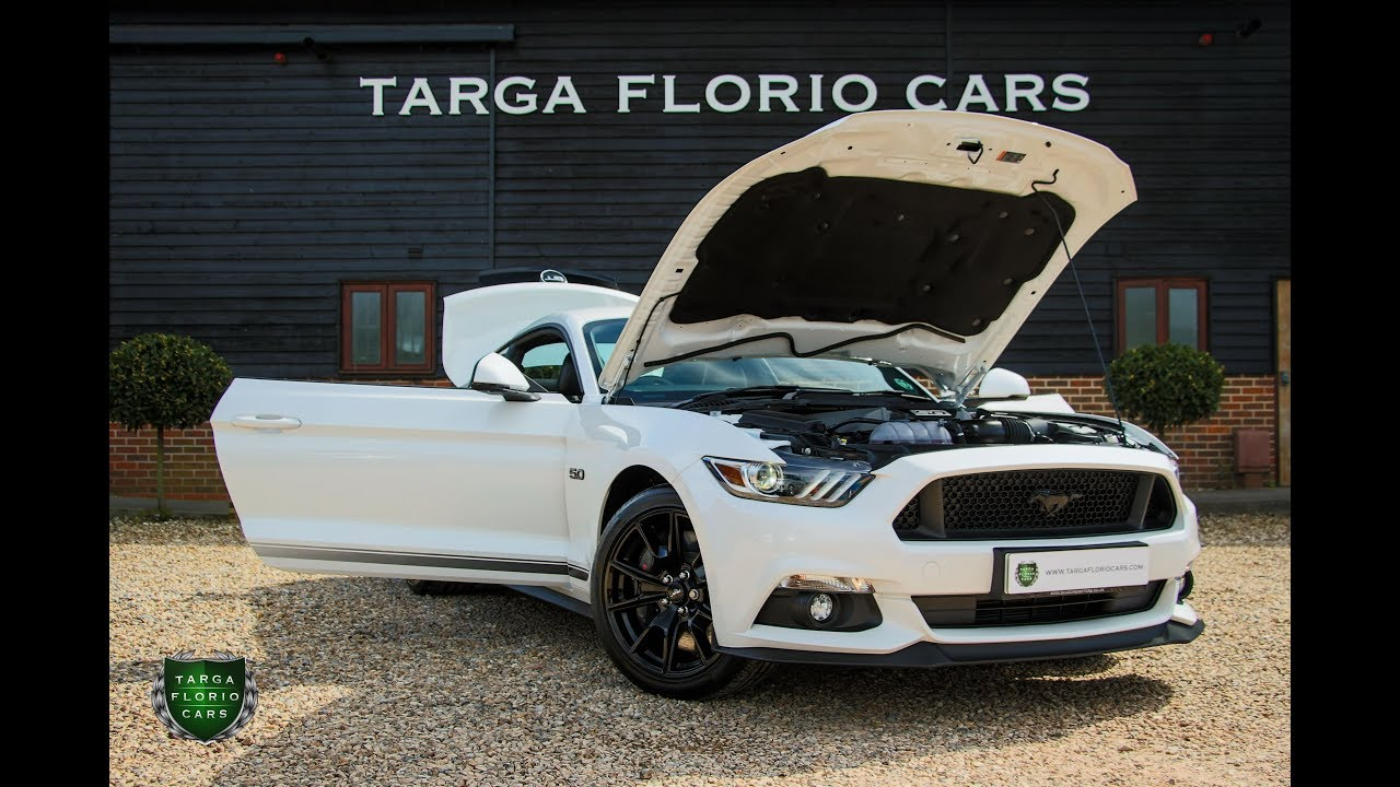 Ford mustang 5 0 v8 gt shadow edition 2dr fastback automatic 2018 in white premium