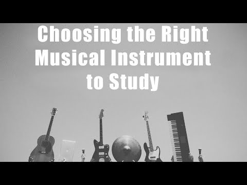 Choosing the Right Musical Instrument to Study