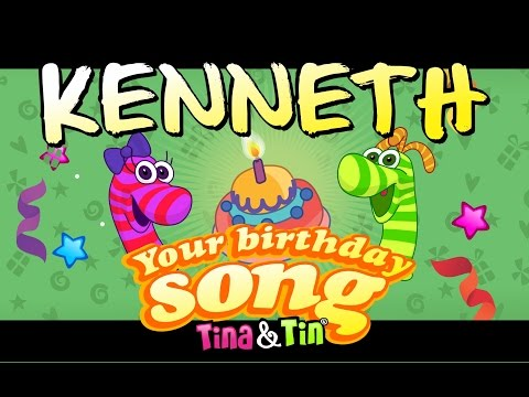 Tina&Tin Happy Birthday KENNETH (Personalized Songs For Kids) #PersonalizedSongs