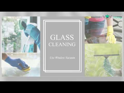 Clean dirty glass with a window vac