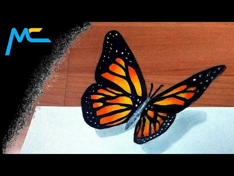 4. My Drawing - 3D Butterfly / Optical Illusion