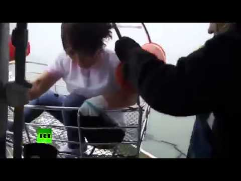 South Korea ship sinks  Video of overturned ferry  rescue mission  200  missing
