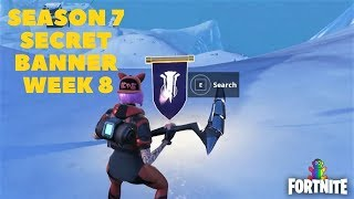 Fortnite - SEASON 7 WEEK 8 SNOWFALL CHALLENGE SECRET BANNER LOCATION IN LOADING SCREEN #8