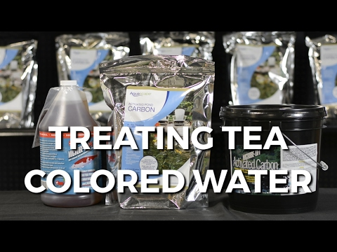 How To Treat TEA COLORED Pond WATER