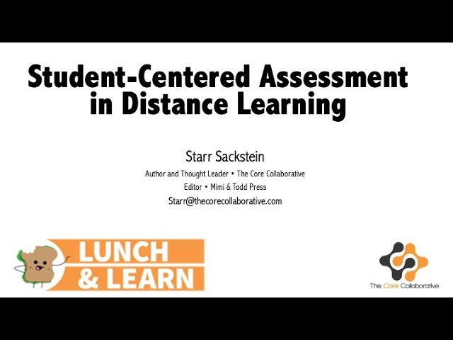 Video: Student-Centered Assessment in a Virtual Environment