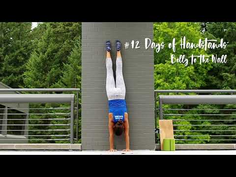 Belly to the wall | YogaSlackers 12 Days of Handstands