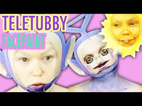 Teletubby and Sun Makeup Transformation *family friendly*