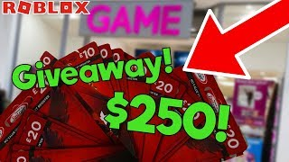 BUYING $250+ WORTH OF ROBUX ROBLOX GIFT CARDS AND GIVING THEM AWAY!