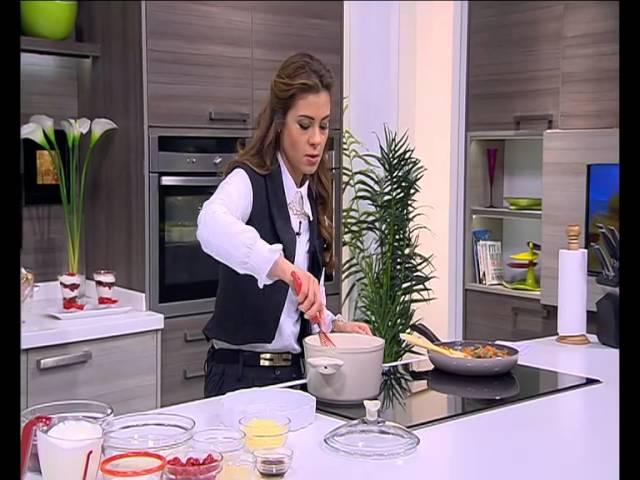 صينية جلاش بالخضروات - تشيز كيك على البارد بالكريز : حلو وحادق حلقة كاملة