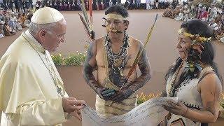 El papa Francisco visita la región amazónica en Perú
