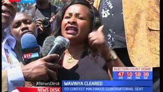 Celebrations as the Machakos' gubernatorial candidate Wavinya Ndeti cleared by high court