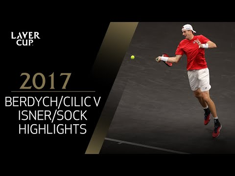Berdych/Cilic v Isner/Sock highlights (Match 9) | Laver Cup 2017