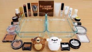 Brown vs Sugar - Mixing Makeup Eyeshadow Into Slime Special Series 178 Satisfying Slime Video