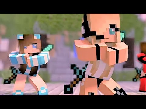 Thumbnail: Psycho Girl 1-4 The Complete Minecraft Music Video Series - Minecraft Songs and Minecraft Animation