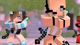 Repeat youtube video Psycho Girl 1-4 The Complete Minecraft Music Video Series - Minecraft Songs and Minecraft Animation