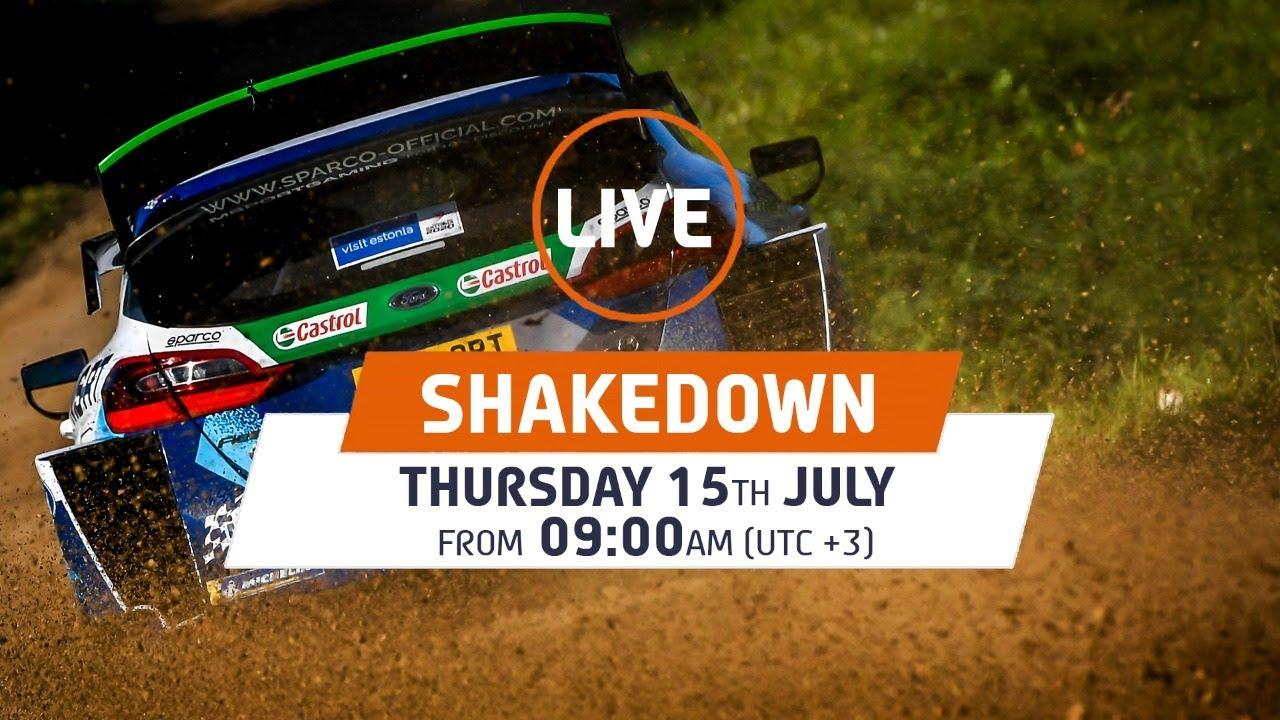 WRC LIVE! Shakedown WRC Rally Estonia 2021
