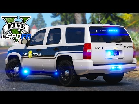 GTA 5 - LSPDFR Ep153 - NC Highway Patrol Shootout!!
