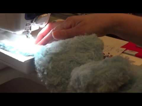 Embroidering Two Easter Bunnies' Ears With A Brother Persona PRS 100