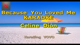 Celine Dion - Because You Loved Me Karaoke