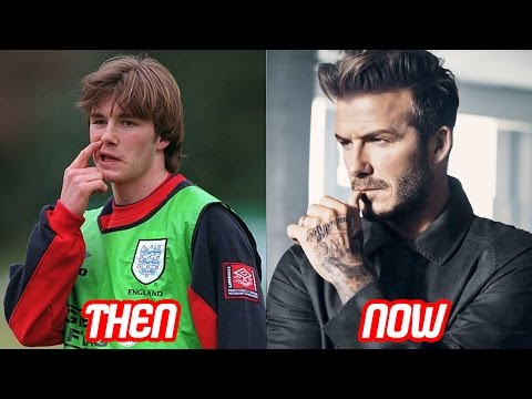 David Beckham Transformation Then And Now Tattoos Body Hair Style Haircut Teeth