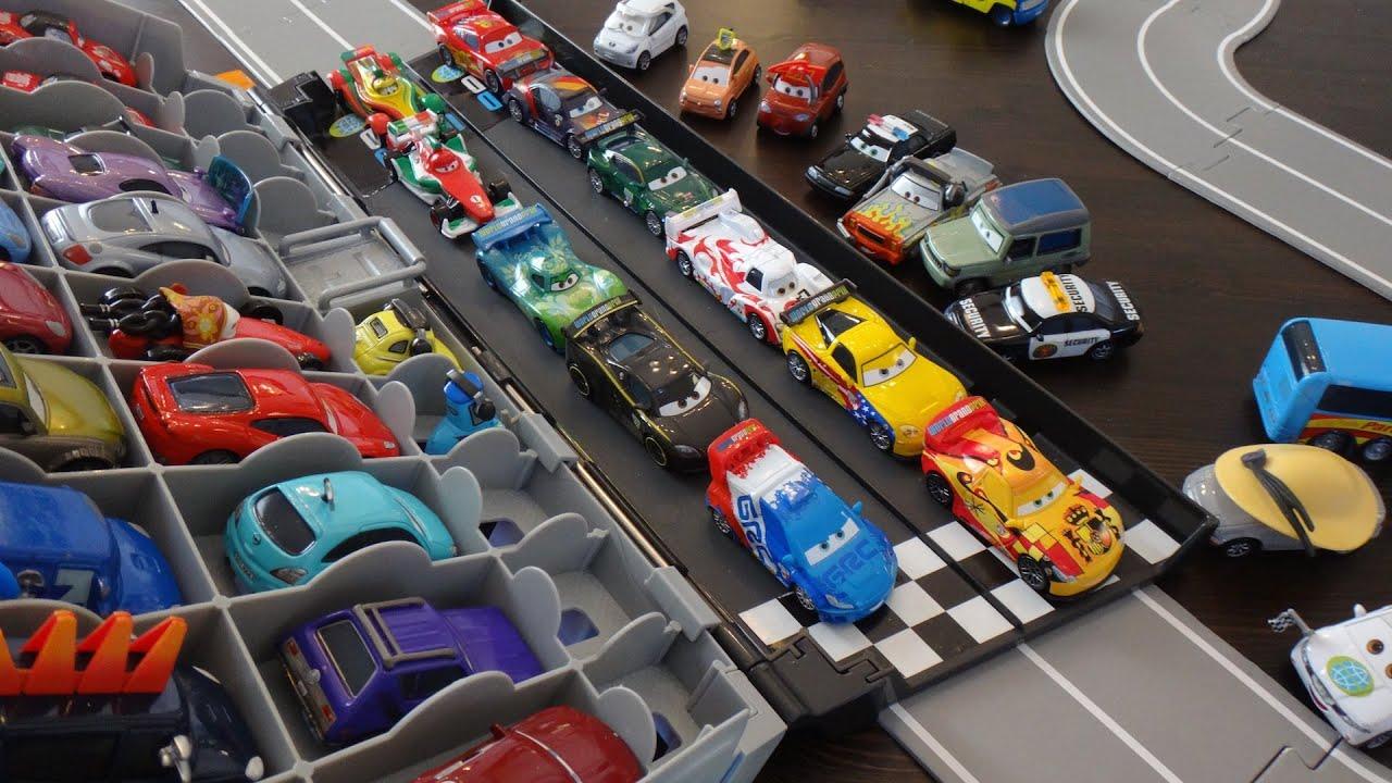Disney cars 2 case and grand prix race track
