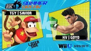 Video MSS 2017: Summer Break - Loser Semis - TGY | Savior (Diddy Kong) vs. KV | Goyo (Little Mac) download MP3, 3GP, MP4, WEBM, AVI, FLV November 2018
