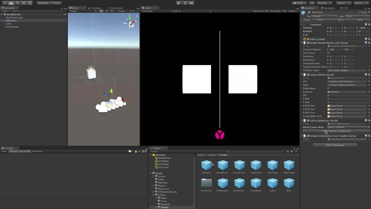 Getting started with Aryzon SDK on Unity - The Ghost Howls