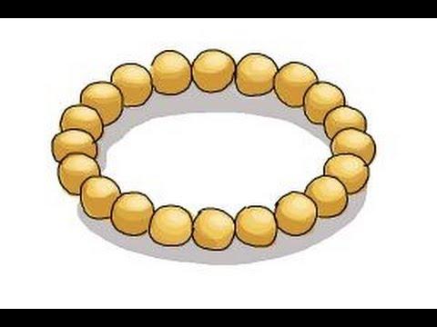 How to draw a bracelet - YouTube