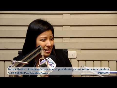 Indira Huilca: Amenazar con vacar al presidente por un audio es una pataleta