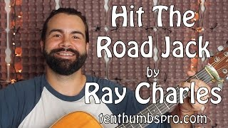 Hit the Road Jack - Ray Charles - Easy Beginner 5 minute Guitar Tutorial