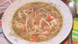 Рыбный суп с крабовой лапшой. Диета Дюкана