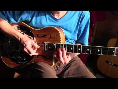 EZ Slide Lesson in Open G - Free TAB - Near The Cross - Gospel Blues