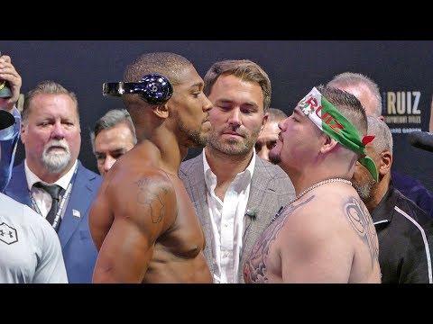 Anthony Joshua vs. Andy Ruiz FINAL FACE OFF after Weigh In | Matchroom Boxing USA