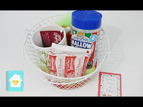 2016 Teacher Christmas Gift Idea Hot Cocoa Basket Youtube