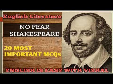 #12 Shakespeare Based MCQs, English Literature ques for DSSSB KVS NVS UP TGT PGT LT grade NET SET