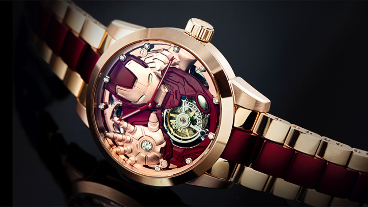 Memorigin iron man avengers tourbillon watch marvel comics on youtube for Avengers watches