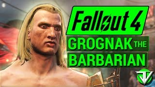 FALLOUT 4 Grognak the BARBARIAN Melee Character Build in Fallout 4