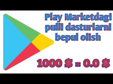 Play marketdagi pulli dasturlarni bepul olish | Бесплатные платные приложения в Play Market