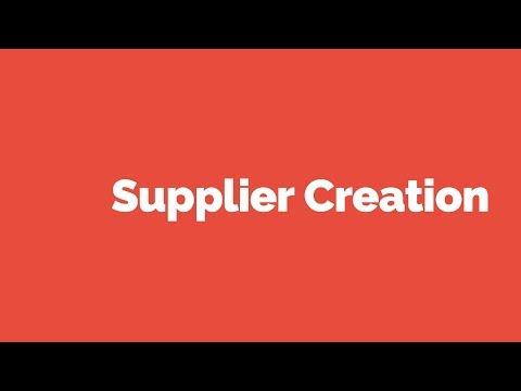 Learn Oracle Applications: Create Supplier