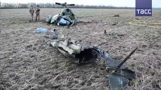 Ми 2 украинских силовиков разбился под Краматорском