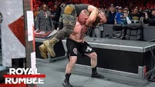 Brock Lesnar Vs Braun Strowman Vs Kane Triple Threat Match - Royal Rumble 28th January 2018 Highlig